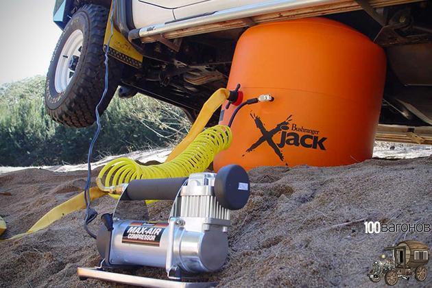 AiR-Jack – Въздушен крик 4.2 тона и надуване от изгорели газове и/или компресор