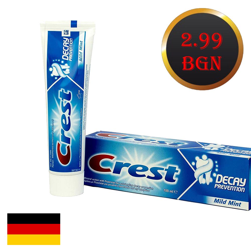 Избелваща паста за зъби CREST DECAY Prevention, 100 ml. Искряща усмивка без зъболекар