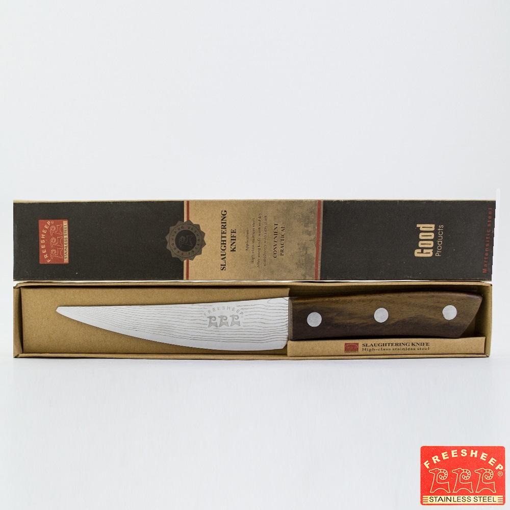 Кухненски нож SHEFF's KNIFE FREESHEEP DM-03 26.50 см, скосен връх