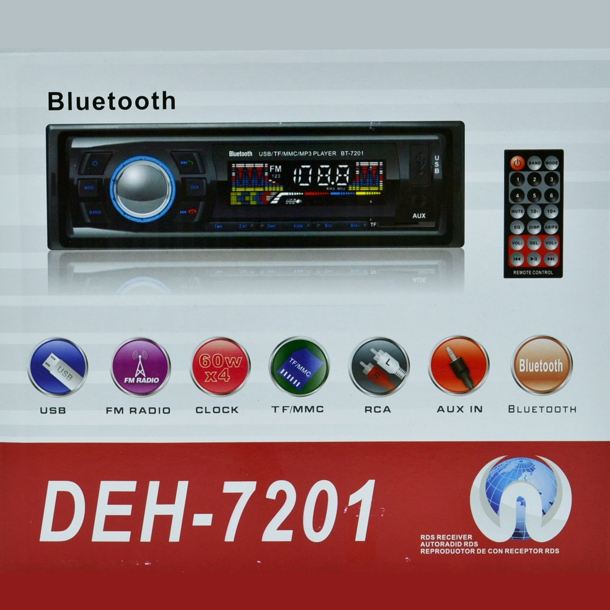 HiFi авто-аудио стерео XPLORE7201 МP3/памет microSD/AUX/FM/