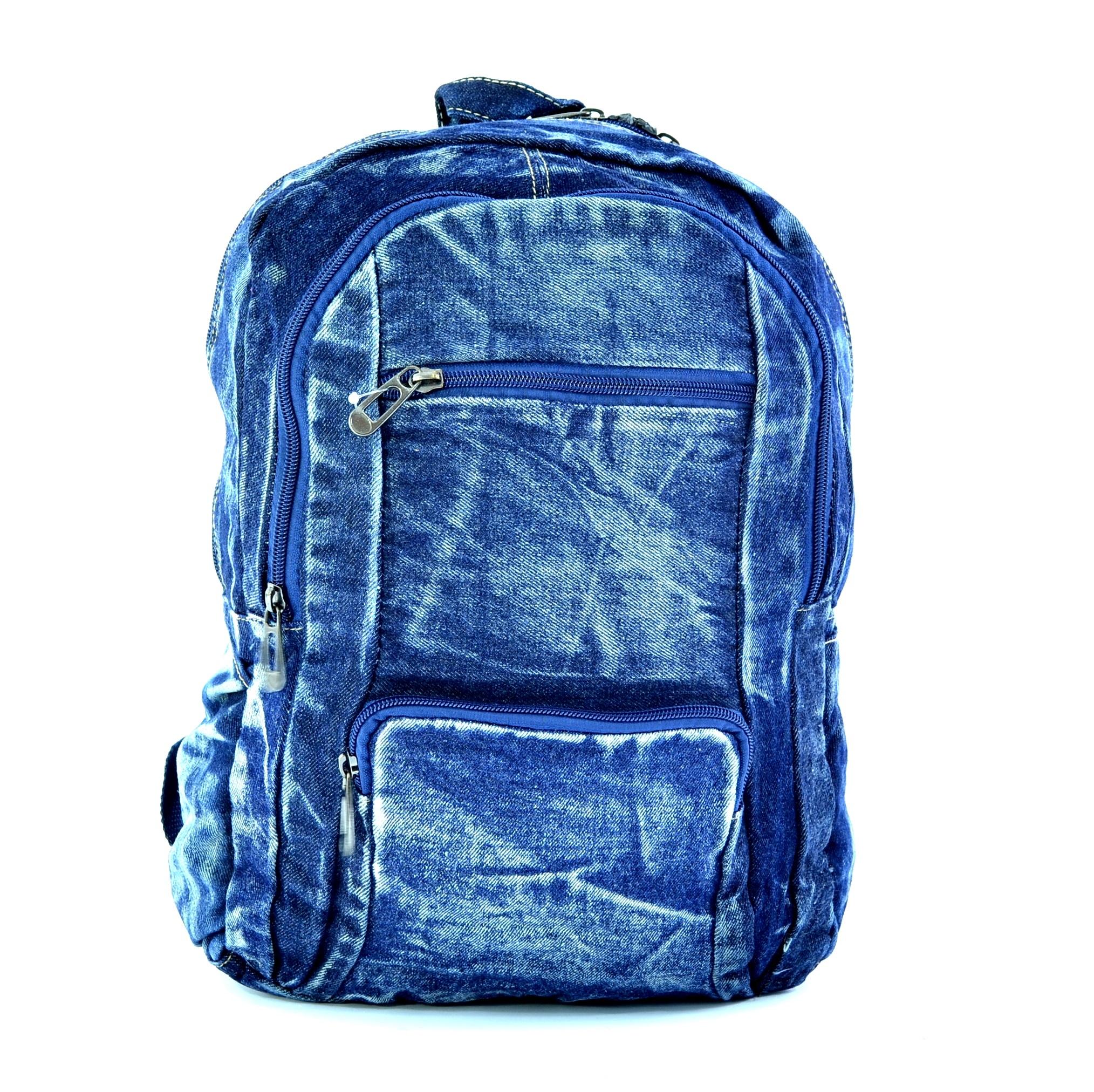 Лека дънкова раница 052 BLUE GIRL. Дамска раница за училище, спорт и туризъм