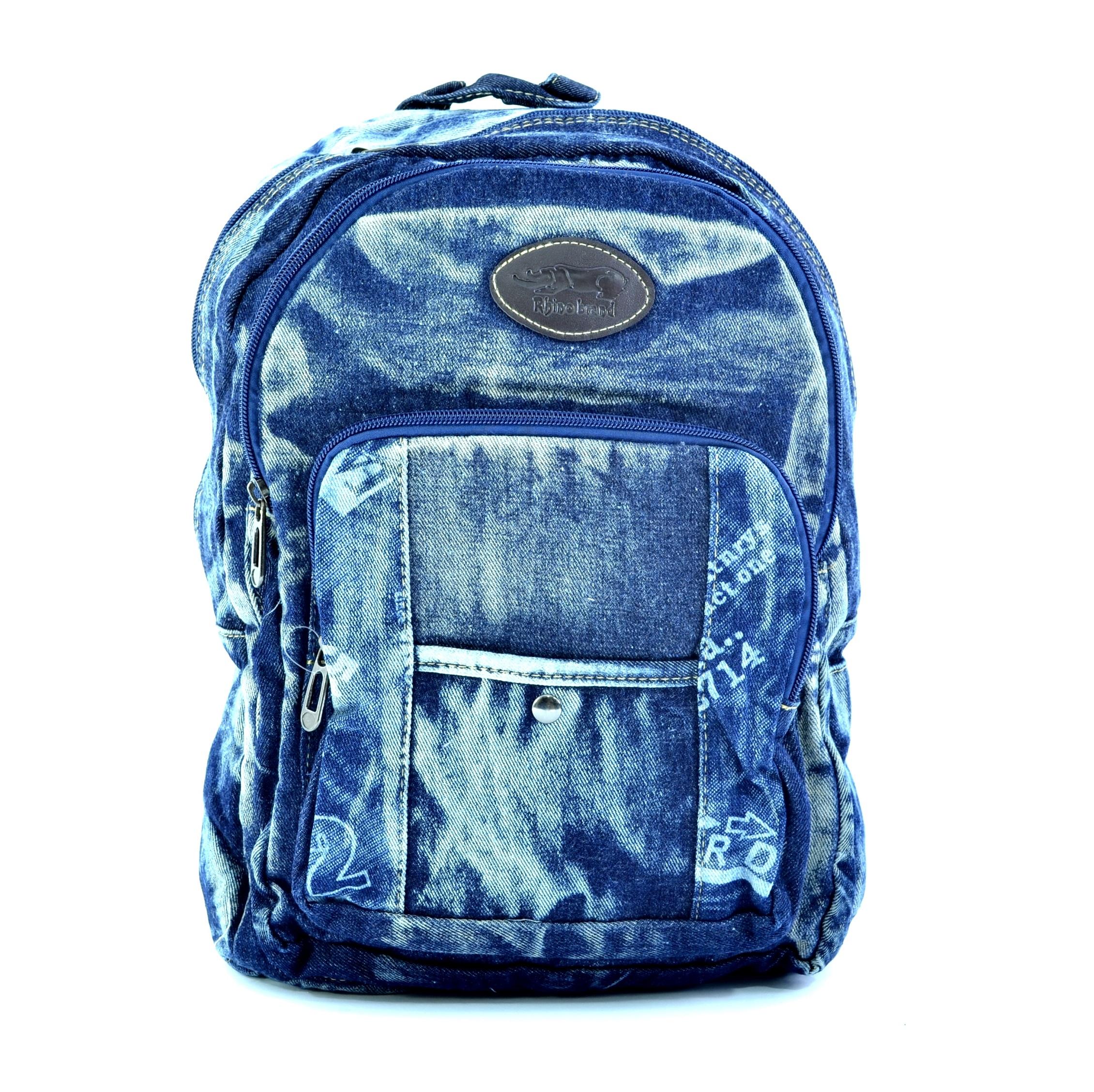 Лека дънкова раница 025 BLUE GIRL. Дамска раница за училище, спорт и туризъм