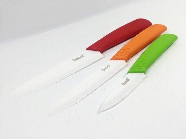 Здравословно готвене с 3 броя самурайски керамични супер ножове BAOCI