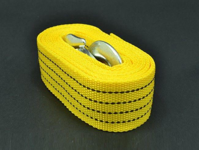 Здраво въже - колан за теглене на автомобил до 3000 кг, 3.5 метра с 2 метални куки