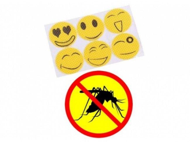 Спасете се от комарите със забавните лепенки против насекоми! 6 броя в опаковка!