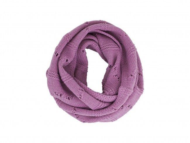 Плетен топъл и мек бебешка шал с дупки за момиченце - в различни цветове