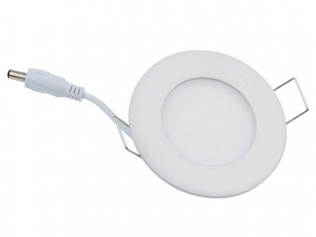LED панел VTAC 6W за вграждане, висока светимост топло или студено, аналог на 60W крушка