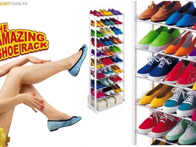 Олекотен подвижен стелаж за 30 чифта обувки - Amazing Shoe Rack