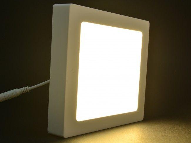 Квадратно LED осветително тяло 18W за стена, топла жълтеникава светлина 3000К