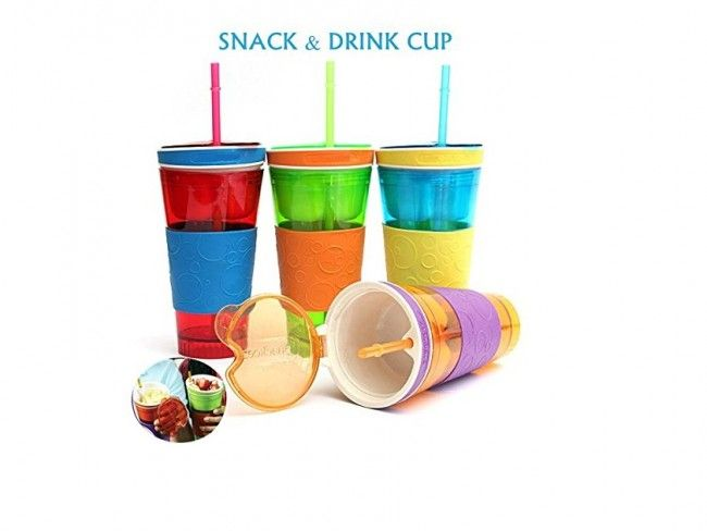 Snack and Dring in one cup - функционална чаша 2 в 1