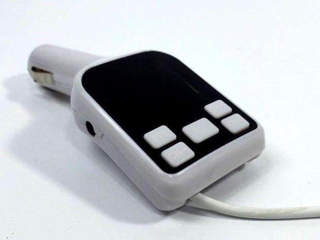 Авто трансмитер А3-8в1-MP3 плейър,USB зарядно 2.0А,кабели за зареждане на телефона