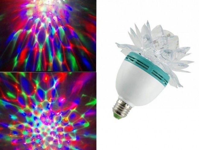 Въртяща се диско парти лампа Flower