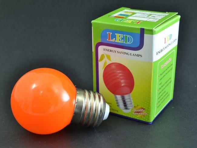 Оранжева LED крушка 3W E27