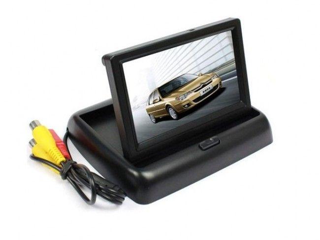 Луксозен прибиращ се TFT LCD 4.3 инча цветен дисплей за камера за заден ход и паркиране