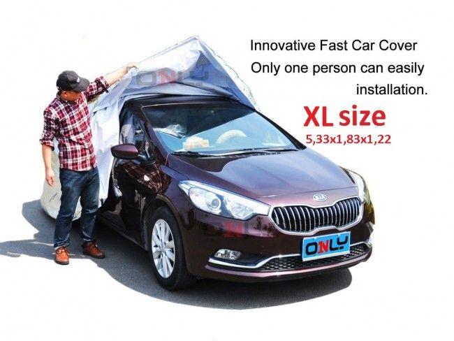 Най-бързо поставящото се покривало за автомобил- FAST CAR COVER, размер XL