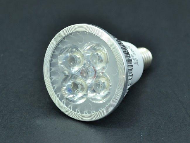 Алуминиева LED крушка - спот Е14 миньонка 4х1W 300 Lm, AC ~220V, 6500K студена бяла