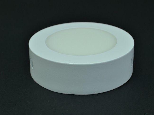Кръгло LED осветително тяло за стена или таван 6W 3000К жълтеникава светлина
