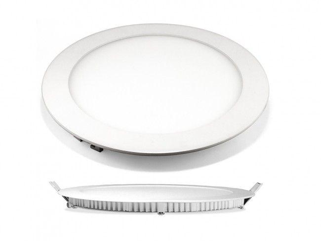 LED панел VTAC 12W за вграждане, висока светимост топло или студено, аналог на 100W крушка