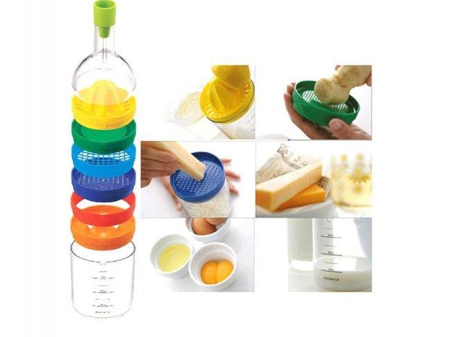 Свеж мулти аксесоар за здравословно хранене BIN 8в1 бутилка