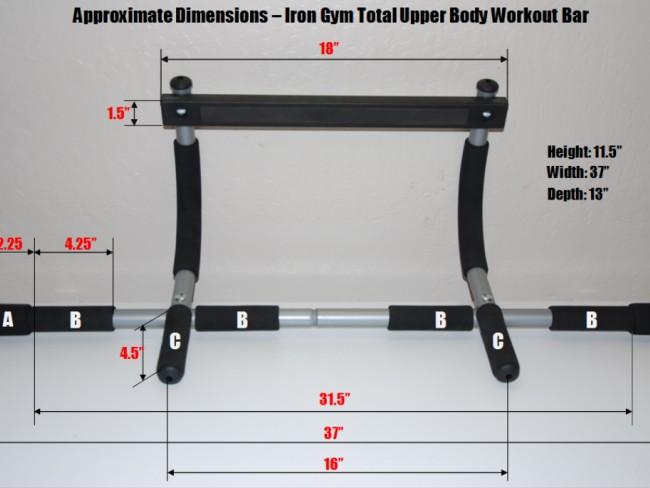 IRON GYM - универсален лост за тренировки за касата на всяка врата