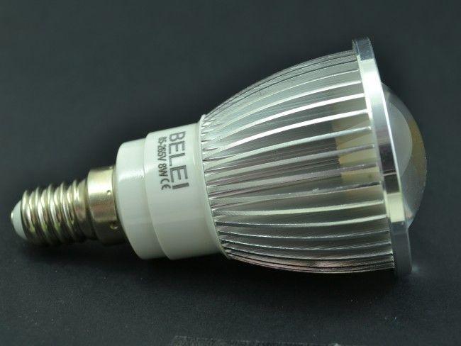 LED крушка BELEI 8W ~85-265V миньонка Е14 - алуминиево тяло 3000К топла бяла светлина
