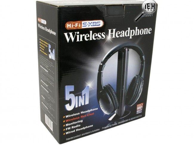 HiFi безжични стерео слушалки MH2001 5в1 с вградено радио
