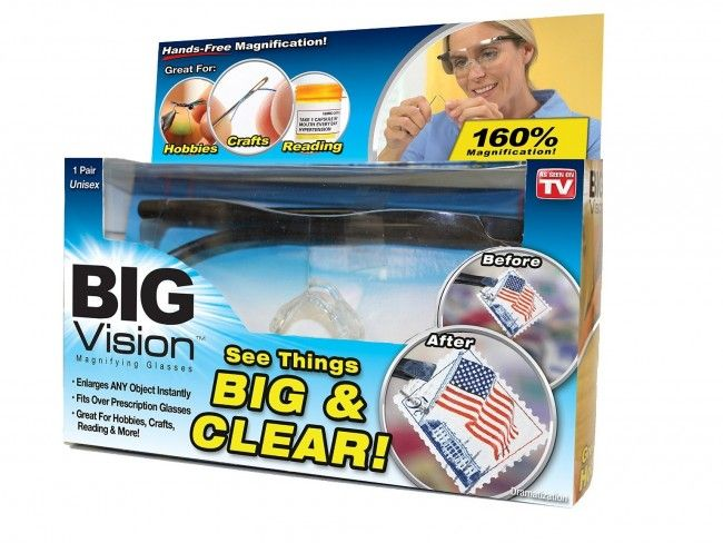 Очилата BIG VISION за уголемяване на образите и работа с дребни детайли