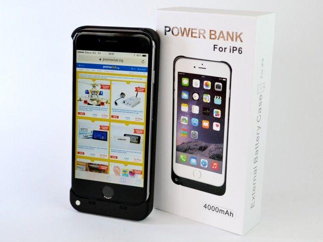 Батерия - iPhone 6 бял, черен или златен, 4000mAh и с ПОДАРЪК кабел за зареждане~220V