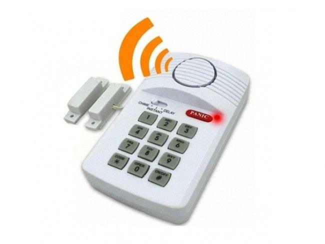 Нискобюджетна алармена система с клавиатура и магнитен датчик за отворена врата