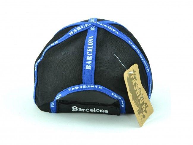 Черна спортна шапка с козирка SPORT BLACK Barcelona