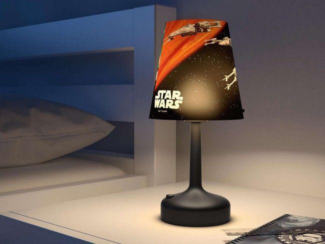 Детскa настолна лампа PHILIPS- Star Wars космически кораби