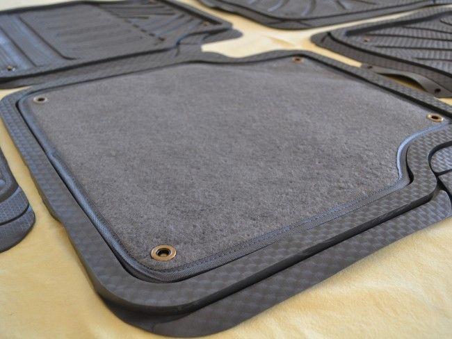 Комплект зимно/летни винилови стелки за автомобил- 5 части и три цвята-черно, сиво, бежаво