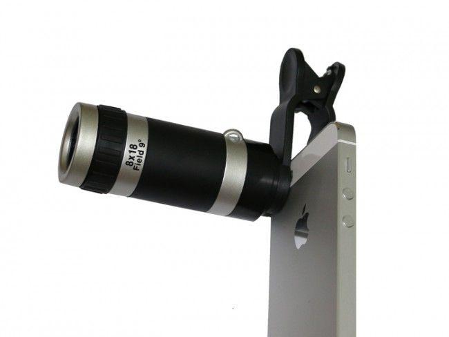 Телескопична приставка за камерата на мобилни телефони с качествен оптичен зум 8Х