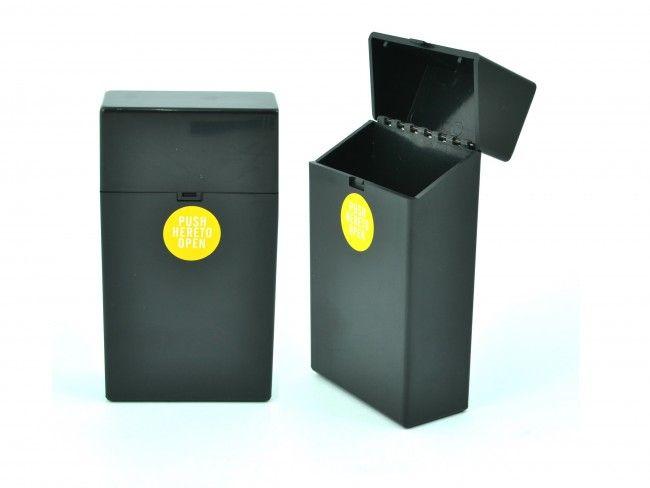 Пластмасов калъф за кутия за цигари 100мм. с автоматично пружинно отваряне ЧЕРНО 089
