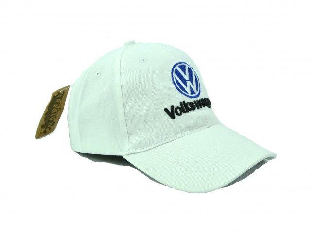 Бяла спортна шапка с козирка SPORT WHITE Volkswagen