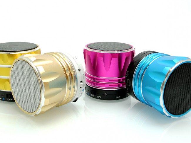 Hi-Fi мини колонка в красив алуминиев корпус - bluetooth, MP3, AUX - чист звук