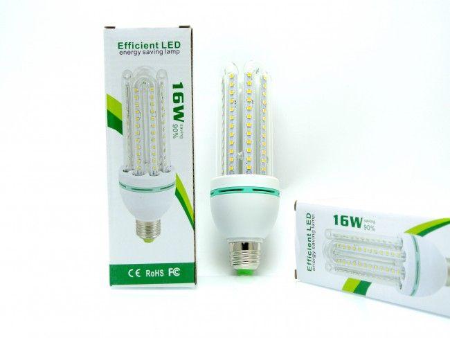 Супер мощна и икономична LED крушка LED 16W cold white със студена бяла светлина