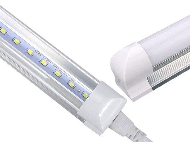 LED осветително тяло тип ПУРА T8 с алуминиев гръб и прозрачно стъкло 150 см, 24W, 2500 Lm