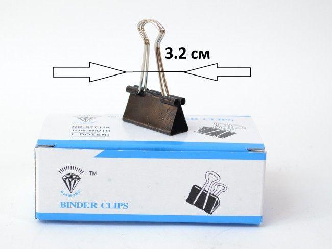 12 броя метални щипки-клипс BINDER CLIPS среден размер с мулти функционално предназначение