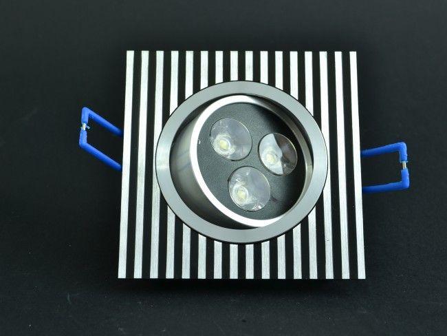 LED осветително тяло за вграждане 3 х 1W с насочване, 6000K студена бяла светлина