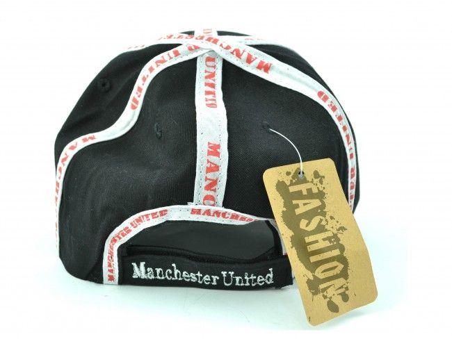 Черна спортна шапка с козирка SPORT BLACK Manchester United