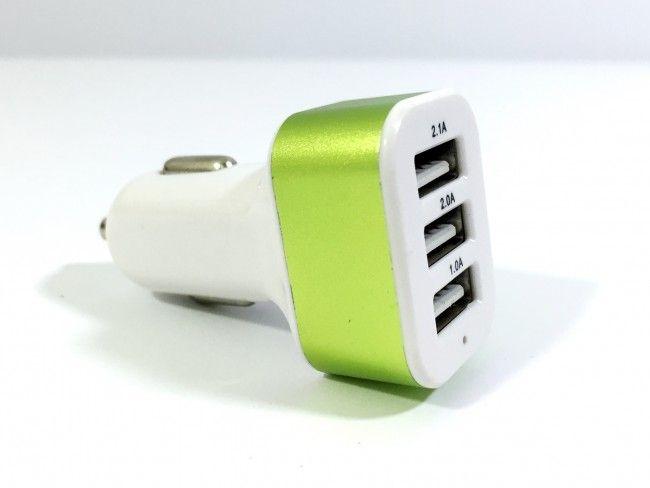 СУПЕР ОФЕРТА:  мощен трoен USB адаптер за автозапалка 5V 3.1А