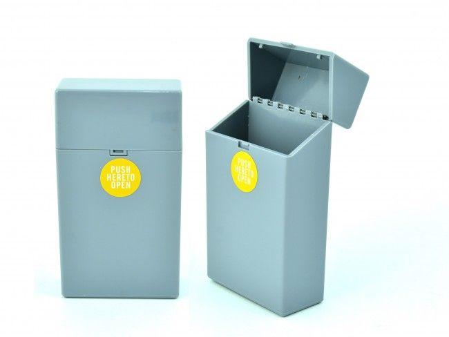 Пластмасов калъф за кутия за цигари 100мм. с автоматично пружинно отваряне СИВО 089