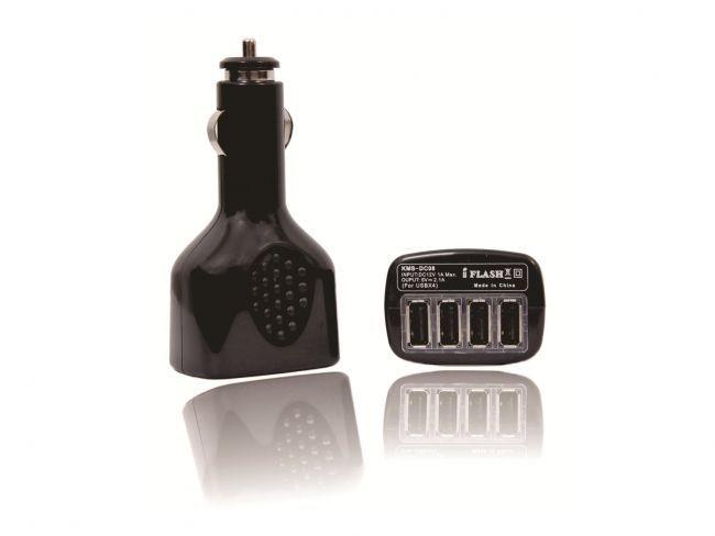 Мощно четворно USB зарядно за автозапалка 4X SA08