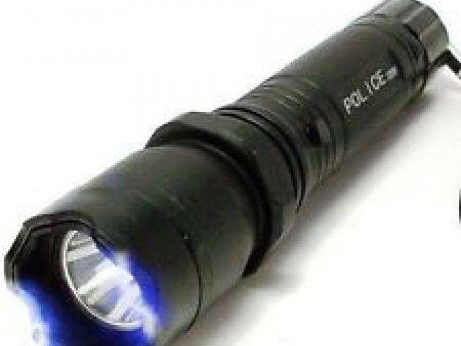 LED фенер с електрошок POLICE DESIGN с акумулаторна батерия, метален корпус