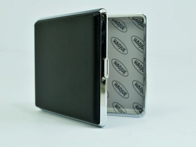 Елегантна голяма табакера J&Y HG605 с кожена повърхност - 20 цигари 100 mm