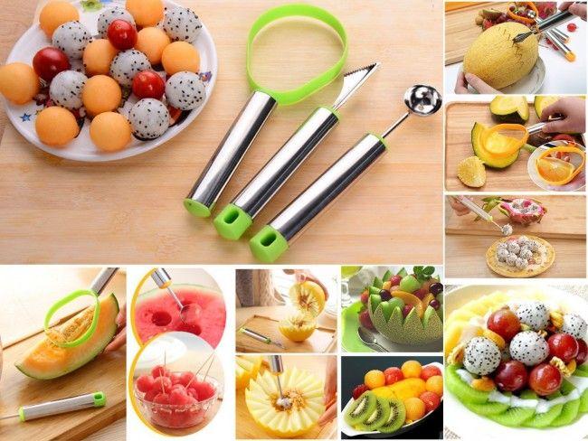 Майсторски комплект за рязане, декориране и украсяване на плодове и зеленчици