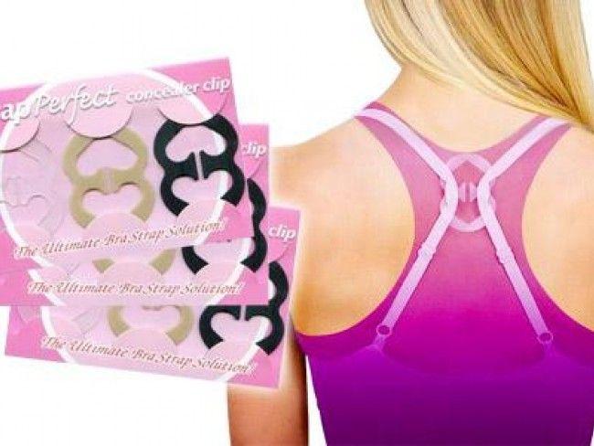 Комплект от 6 броя шипки за презрамките на сутиени, бански и дриги Conceal Bra Straps