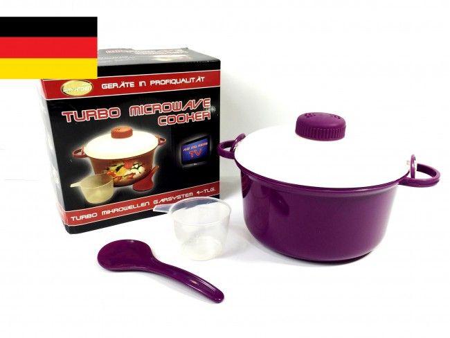 Немска тенджера за микровълнова фурна Turbo microwave cooker Purple