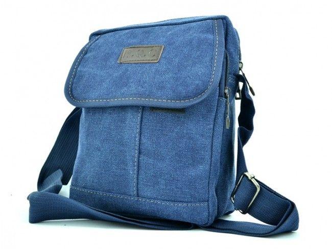 H.Q.C. BLUE 5320- брезентова чантичка за през рамо